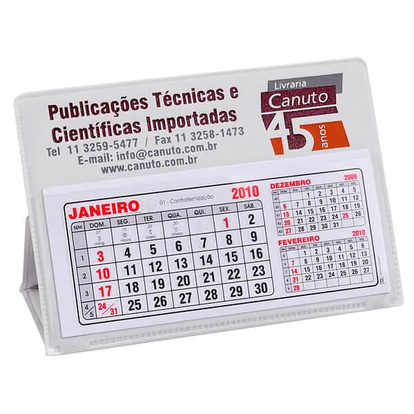 Calendário de Mesa PVC Pequeno mod. CM02
